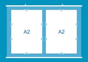Стенд универсальный - все форматный, подвесной, мобильный, гибкий, прозрачный!